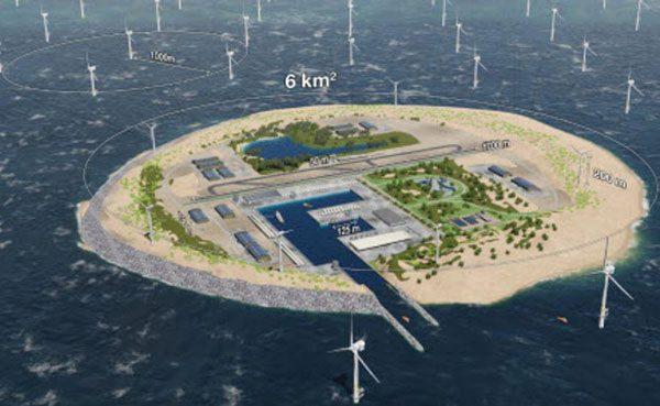 Una isla artificial para producir energía renovable
